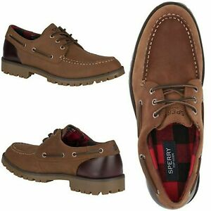 NEW $130 SPERRY Top-Sider Authentic Original Men Lug Boat Shoe Brown SELECT SIZE