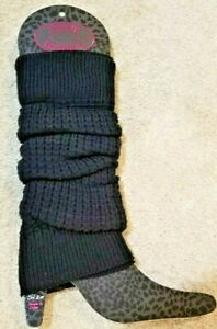 Steve Madden Black Knit Leg Warmer Boot Topper, NEW with Tags