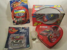 Lot of JEFF GORDON Collectables #24 Dupont RC Hood Cars TIN etc [Z82a]
