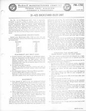 Delta Rockwell No. 31-425 Backstand Idler Unit Pm-1780 Instructions