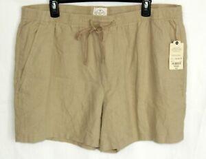 St. John's Bay Drawstring Linen Blend Biscotti Shorts Comfort Size XXL** NWT