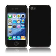 Cover Case Custodia Rigida Plastica Lucida Nero Per Iphone 4 4 S