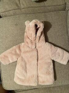 Baby Girl Fur Coat 0-3M