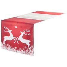 Tischläufer Jori - Hirsch rot ca 42 x 145 cm Weihnachtsdeko Tischdekoration