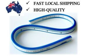 """Flexible Curves Ruler 30cm 12"""" with Inking & Pencil Edge Drafting Drawing Tool"""