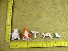 5 x excavated vintage damaged animal doll parts age 1890 mixed media B 845