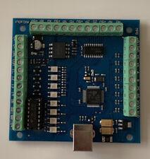 4 Axis Mach3 Cnc Breakout Board Usb Stepper Motion Controller Card 12 24v 100khz