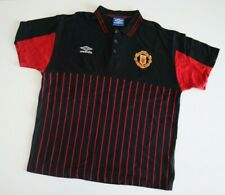 MANCHESTER UNITED 1998 Umbro Mens Polo Football Shirt XL Vintage Soccer Jersey