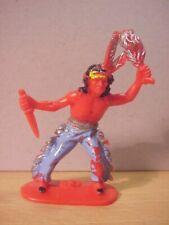 Jean Hoefler/Höfler - INDIAN HOLDING KNIFE & SCALP - Red/Painted