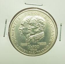 B-D-M Bolivia 500 Pesos Bolivianos Independence 1975 Km 196 Plata