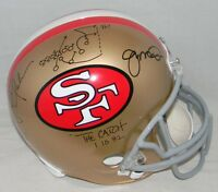 JOE MONTANA DWIGHT CLARK SIGNED SAN FRANCISCO 49ERS F/S HELMET CATCH PLAY DRAWN