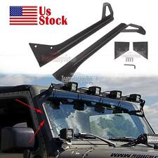 2x Roof Mounting Bracket Fit For 1987-1995 Jeep YJ Wrangler 52inch Led Light Bar