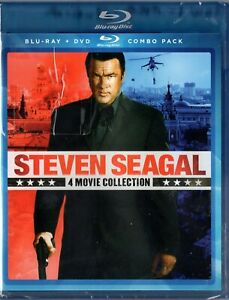 STEVEN SEAGAL 4-FILM COLLECTION (Blu-ray + DVD combo) Brand New