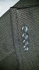 Pronto Uomo 52L Blue Tan Over Check Tweed Blazer Textured Jacket Sport Coat Wool