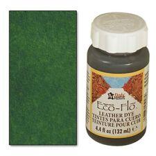 2 bottles Eco-Flo Leather Dye 4.4 fl. oz. (132 ml) Forest Green - FREE SHIPPING!