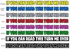 1 x se è possibile leggere questo trasformarmi oltre 4x4 Land Rover Fuori Strada Auto Decalcomania Sticker