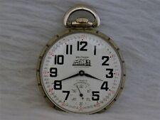 17j Locomotive Pocket Watch Waltham (swiss) 16s ,