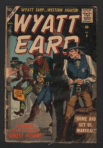 "WYATT EARP #9, 1957, Atlas Comics, VG- CONDITION COPY, ""GHOST TOWN""!"