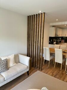 Wooden Wall Partition | Room Divider | Floor To Ceiling Wooden Slats