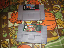 Super Nintendo  Games Donkey Kong Country 1 and 3 Dixie Kong Double Trouble