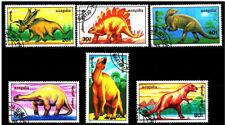 MONGOLIA 1990 Prehistoric Animals Dinosaurs - USED COMPLETE FULL SET CTO
