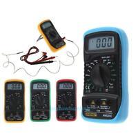 Digital LCD Thermometry Multimeter Voltmeter Ammeter AC DC OHM Volt Tester Meter
