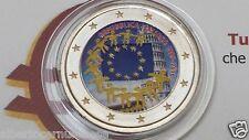 2 euro 2015 Italia colorato italie italien italy bandiera flag flagge drapeau