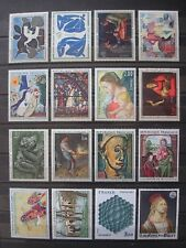 FRANCE 31 LARGE SIZE STAMPS OVER ARTS MNH** 2 SCANS o/w paintings