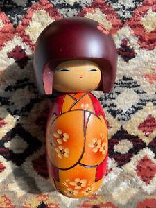 Wooden Japanese Kokeshi Doll Artforum A Wild Flower