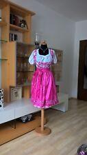 STOCKERPOINT Dirndl Kleid Gr 38 rosa pink kariert + Schürze Satin süß ❤️