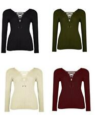 Casual Fitted V Neck Tops & Shirts Size Petite for Women
