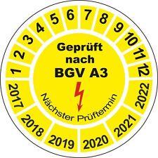 500 Stück Prüfplaketten Geprüft nach BGV A3 20mm BGVA3 Prüfsiegel 10648