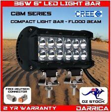 "36W 6"" BM Double Row CREE LED Light Bar Bottom Mount Bracket spread beam reverse"