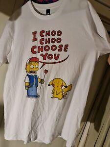 Novelty t shirt pokemon x Simpson's