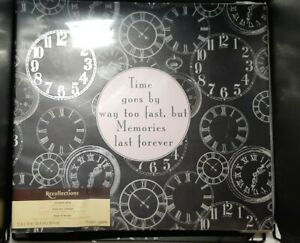 """Recollections Clockwork Time 10 Page Top Load 12""""x12"""" Scrapbook Photo Album + 📜"""
