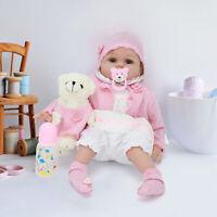 22'' Lifelike Reborn Baby Dolls  Handmade Vinyl Soft Silicone Newborn Doll Gifts