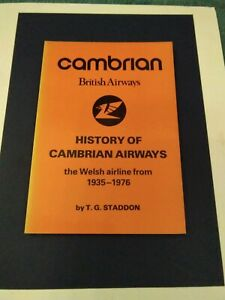 Cambrian History Of Cambrian Airways The Welsh Airline 1939-1976