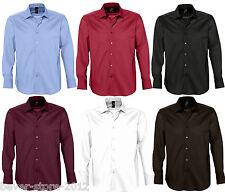 Herren Stretch-Langarmhemd Hemd Oberhemd Übergröße S M L XL XXL 3XL 4XL 5XL