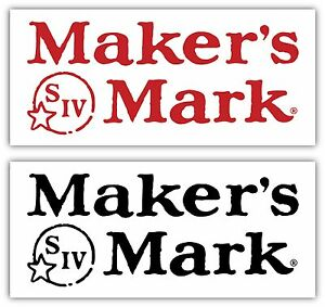 Maker's Mark Sticker Decal *PICK COLOR&SIZE* Alcohol Bourbon Whisky Bar Wall