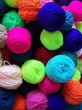 Job Lot Mix Oddments Balls DK Wool Knitting/Crochet Yarns, Granny Squares Crafts