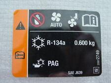 2010-2011 CHEVROLET CAMARO GM 20972749 UNDER HOOD AC R-134A DECAL OEM  (NOS)