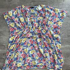 SMALL UK 10-12 Ladies KAFTAN Primark Beach Cover Up Floral Dress Womens Summer