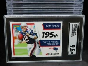 2021 Score Tom Brady 195th Touchdown Tribute #TBT-195 SGC 9.5 MINT Patriots O934