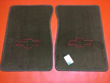 1971-1987 GMC Chevy Truck Floor Mats W/ Chevy Bow Tie Logo Caramel C K  Blazer