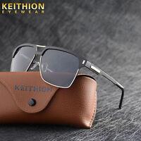 KEITHION New Design Square Polarized Sunglasse Mens Driving Sports  Eyewear