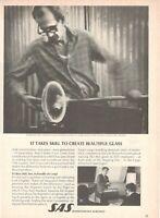 1969 Original Advertising' SAS Scandinavian Airlines System Company Aerial Grow