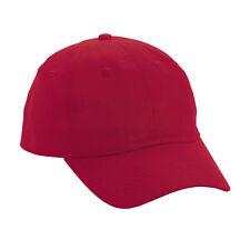 12 (1 dozen) New Red Baseball /Golf Hats - Cotton - Adjustable - High Quality