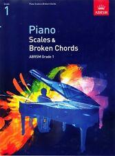 Pianoforte SCALE & Broken Chords ABRSM Grado 1. LIBRO di musica dell'esame
