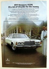 Magazine Print Ad 1977 Chrysler Newport