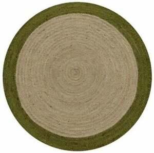 Indian Rug Natural Jute Braided Style Round Reversible handmade modern Jute rugs